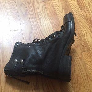 Sam Edelman Shoes - Black leather combat boots
